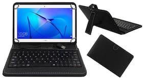 Acm Usb Keyboard Case for Honor Mediapad T3 10 Tablet Cover Stand With Free Micro Usb Otg - Black