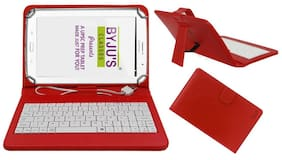 Acm Usb Keyboard Case for Byju Learning Tab 25.65 cm (10.1 inch) Tablet Cover Stand With Free Micro Usb Otg - Red