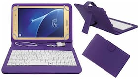 Acm Usb Keyboard Case For Samsung Galaxy J Max Tab Cover With Free Micro Usb Otg - Purple