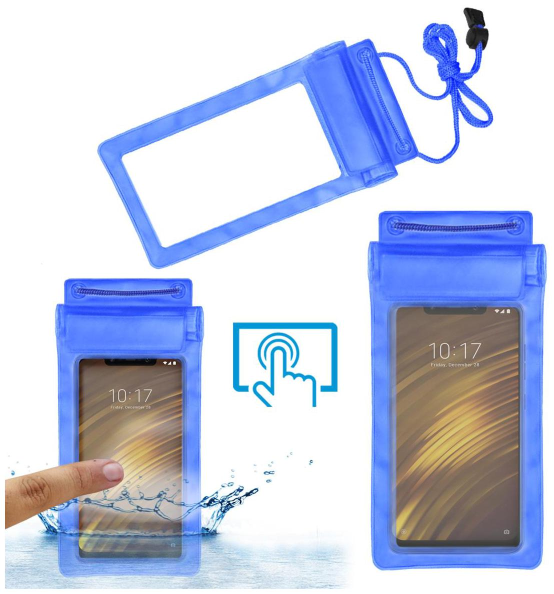 Poco F1 Silicone Water Proof Pouch By ACM ( Blue )