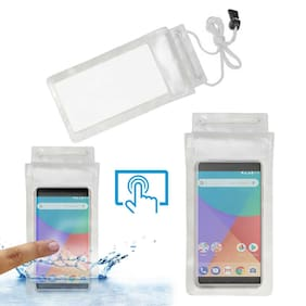 ACM Water Proof Case For Mi A1 For (Transparent)