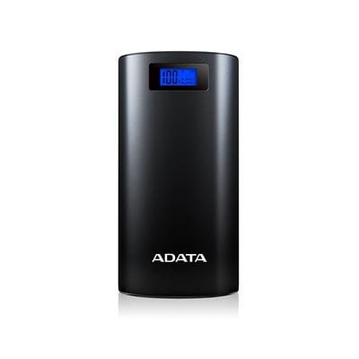 ADATA P20000D 20000mAH Power Bank with Digital Display & LED Flash Light - Black