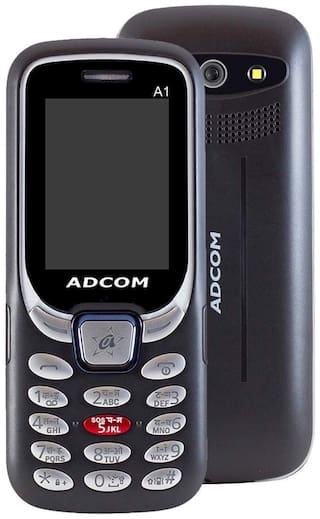 Adcom A1 Selfie 1050 mAh Feature Phone Black