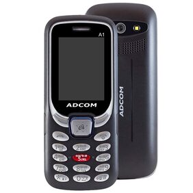 Adcom A1 Selfie 1050 mAh Feature Phone Black