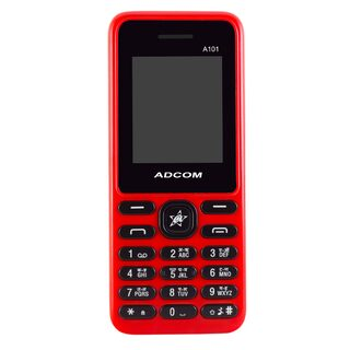 Adcom A101 Voice Changer Mobile Phone (1.8 Inch Display, Dual Sim, 800 mAH Battery, Red)