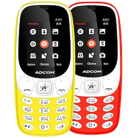 Adcom A111 Red;Yellow (Pack Of 2)