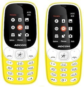 Adcom A111 Yellow Voice Changer Feature Phone -(Pack of 2)