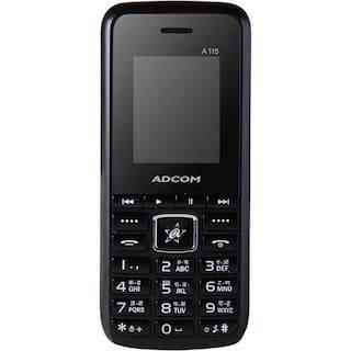Adcom A115 Voice Changer Phone, Dual SIM (Black & Red)