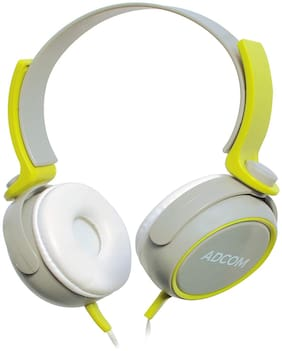 Adcom Ad-28038 Over-ear Wired Headphone ( Grey & Green )