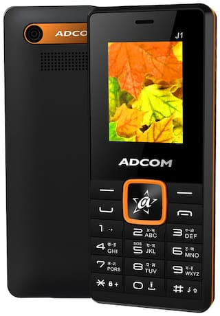 ADCOM J1 Dual SIM Phone |1.8 Inches with Digital Camera |1050 mAh Battery | Made in India- 1 Year Brand Warranty