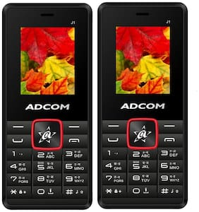 Adcom J1 Mobile (1.8 inch Display  Dual Sim  FM Radio  Made in India  Black Red Pack Of 2)