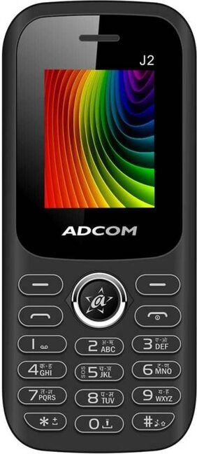 ADCOM J2 Dual SIM Phone |1.8 Inches with Digital Camera | Big battery 1500 mAh | Made in India- 1 Year Brand Warranty
