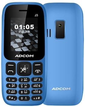 ADCOM J3 Dual SIM Mobile | 1.8 inch |1050 mAh battery |Made in India | 1 Year Brand Warranty
