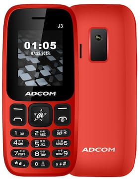 ADCOM J3 Dual SIM Mobile | 1.8 Inches |1050 mAh battery |Made in India | 1 Year Brand Warranty