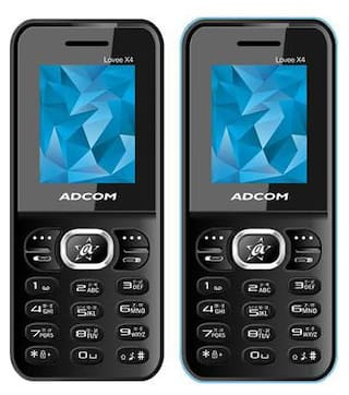 (Pack of 2) - ADCOM X4 Voice Changer Phones  1.8 Inches  800 mAh   Made in india    1 Year Brand Warranty