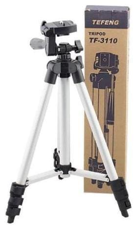Adjustable 3Way Head Mobile Phone Camera Stand Holder Tripod Tripod (Black, Silver, Supports Up to 1000)