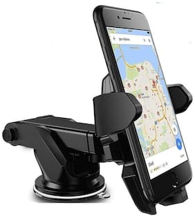 Adjustable Mobile Holder / Mobile Stand / Car Stand With Quick One Touch Technology For Mobiles Phones (Black ) By Tech-X