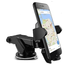 Adjustable Mobile Holder / Mobile Stand / Car Stand With Quick One Touch Technology For Mobiles Phones (Black ) By Fedus