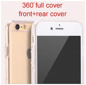 Aeoss  2in1 Full Cover 360 Degree Clear TPU Silicone Front + Back Case For iPhone 6s 6g
