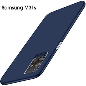 AESTMO Imported Matte Soft Back Cover Case for Samsung Galaxy M31s (Blue)