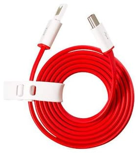 AFRODIVE Data & Charging Type-C Cable ( 1 m , Red )
