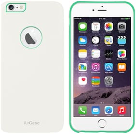 AirPlus iPhone 6s / 6 Leather Feel 1mm Slim Back Case/Cover with Apple Cut Out (White)