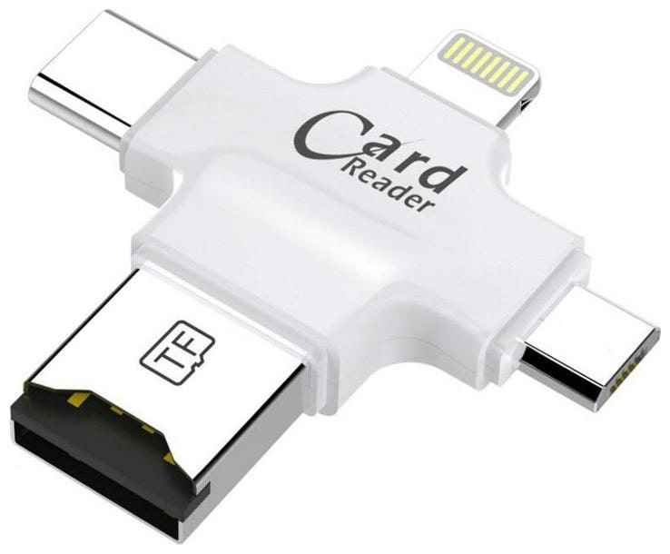 All In One Multi Function Card Reader Four port: lightning + Type...