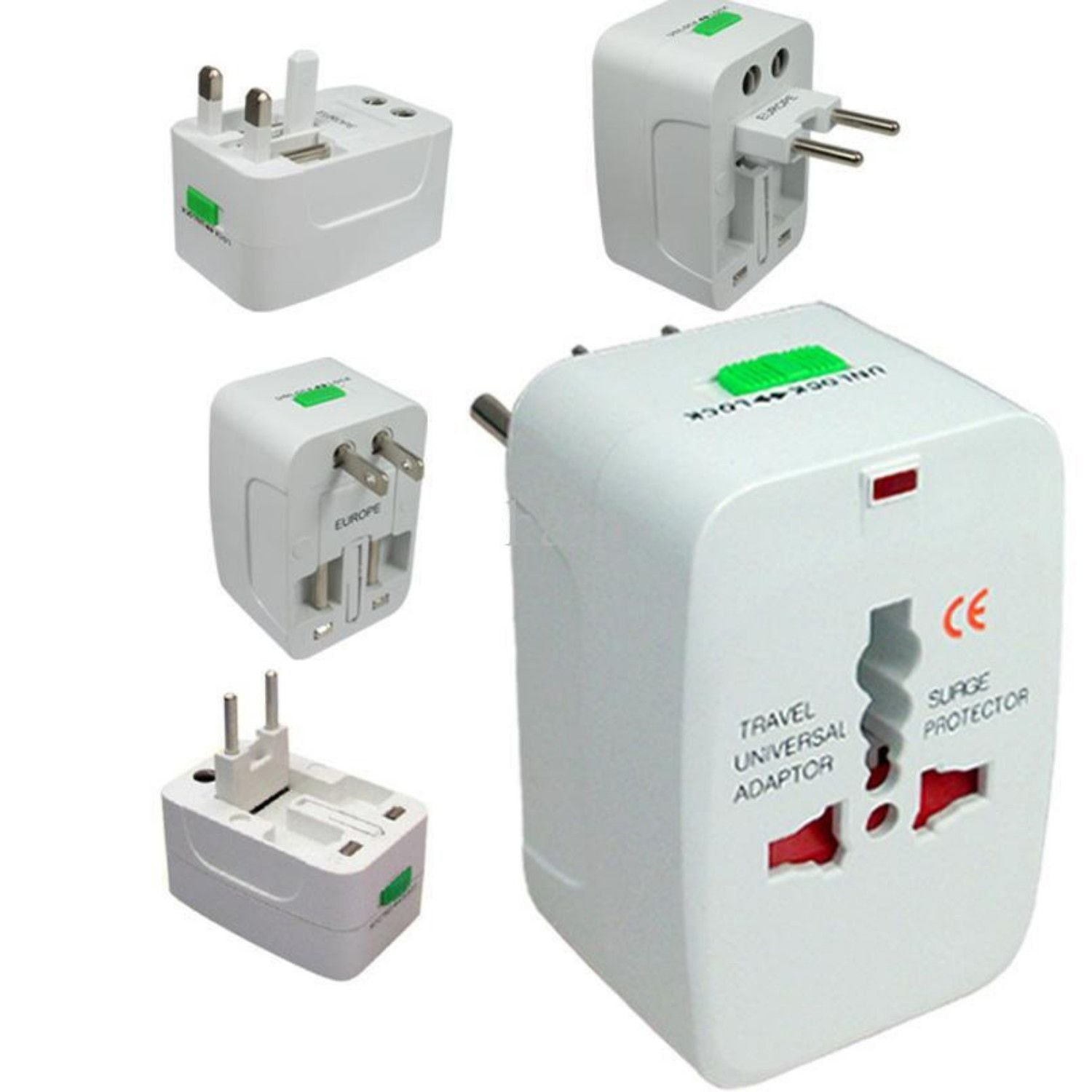 All In One Universal Worldwide Travel Adaptor  1pc.  by Yugg Enterprises