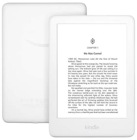 All-New Kindle (10th Gen), 15.24 cm (6 Inch) Display now with Built-in Light, 4 GB, Wi-Fi (White)