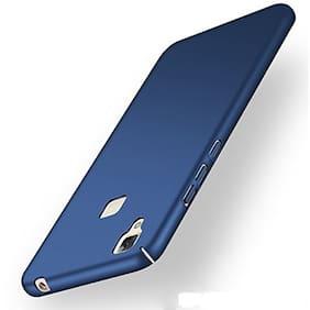 "All Sides Protection ""360 Degree"" Sleek Rubberised Matte Hard Case Back Cover For Vivo V3 - Blue"