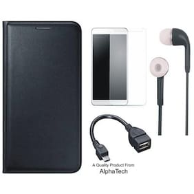 AlphaTech Flip cover Artificial leather Black