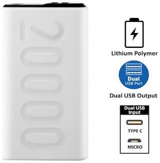 Ambrane PP-205 20000 mAh Portable Power Bank - White