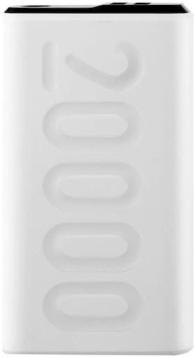 Ambrane PP-205 20000-Mah Lithium Polymer Power Bank - White (Stylo-20K)