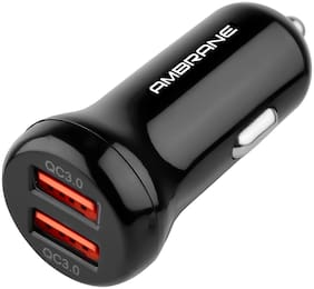 Ambrane ACC-29 Quick Charge 3.0 Dual Port Car Charger-BLACK