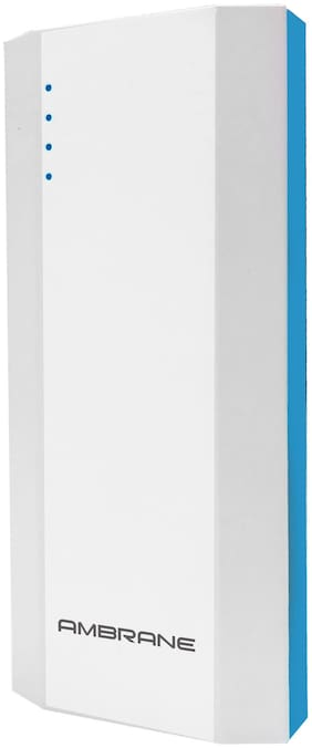 Ambrane P-1111 10000 mAh Power Bank - White & Blue