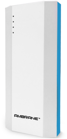 Ambrane P-1111 10000 mAh Power Bank (White & Blue)