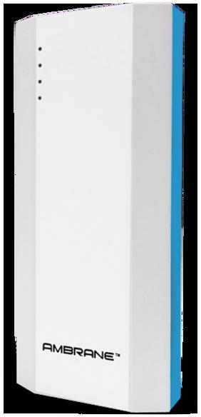 Ambrane P-1111 10000 mAh Power Bank (White & Blue)