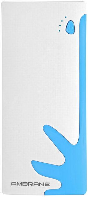 Ambrane P-1122 10000 mAh Power Bank (White & Blue)