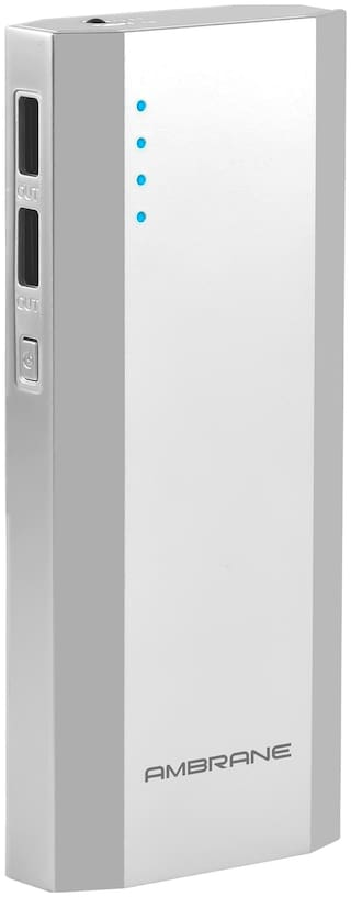 Ambrane P-1111 10000 mAh Power Bank - Silver