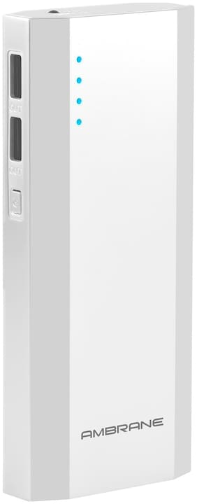 Ambrane P-1111 10000-Mah Lithium Ion Power Bank- White
