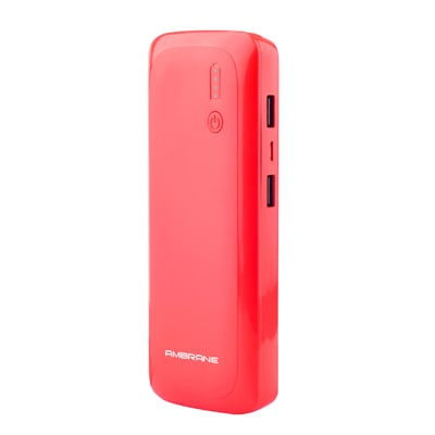 Ambrane P-1250 12500mAh Power Bank - Red