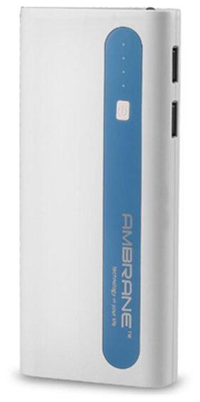 Ambrane P-1310 13000 mAh Power Bank (White & Blue)