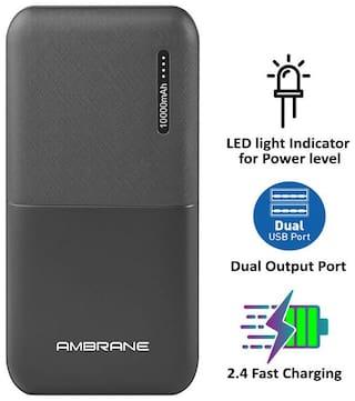 Ambrane PP-111 10000 mAh Portable Power Bank - Black