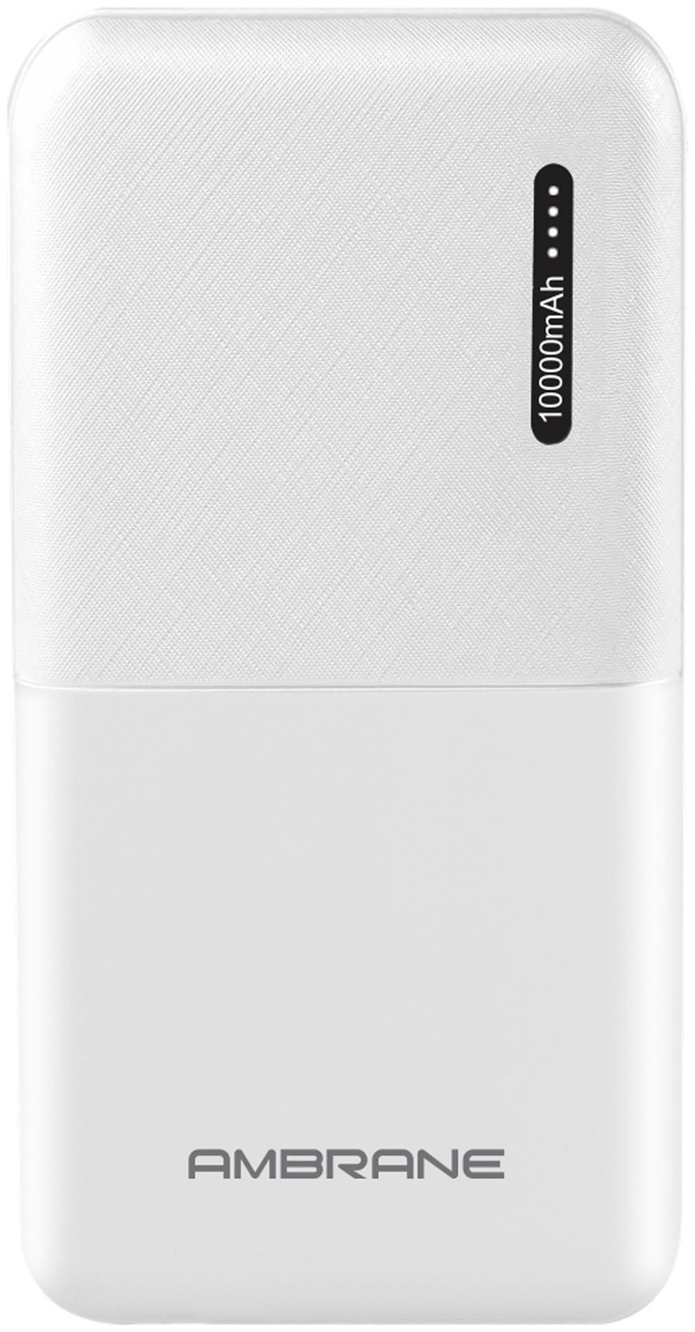 Ambrane PP 111 10000 mAh Portable Power Bank   White