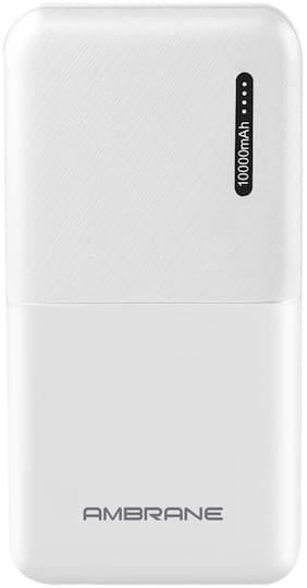 Ambrane PP-111 10000 mAh Portable Power Bank - White