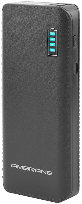 Ambrane P-1133 12500-Mah Lithium Ion Power Bank - Black