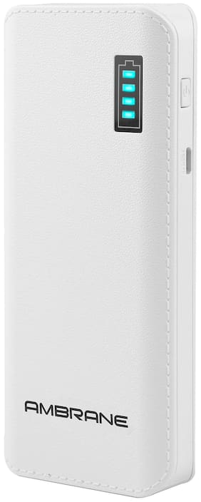 Ambrane P-1133 12500-Mah Lithium Ion Power Bank - White