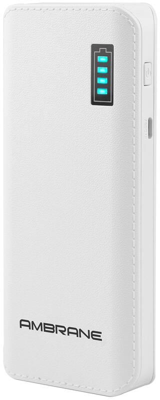 Ambrane P-1133 12500 mAh Power Bank - White