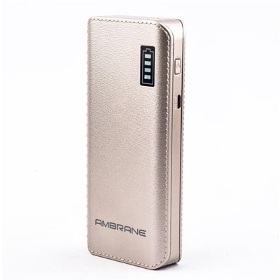 Ambrane Power Bank P-1133 12500mAh-Gold