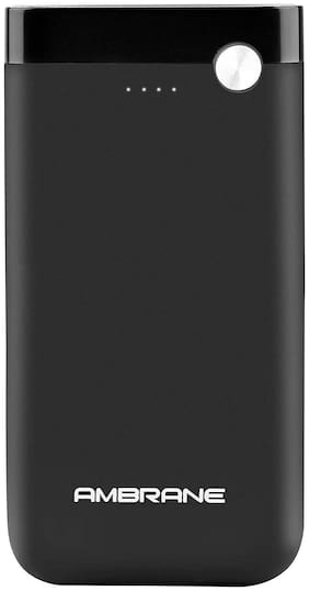 Ambrane PP-11 10000-Mah Lithium Polymer Power Bank - Black